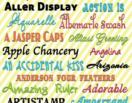 """Free Fonts with Download Links… My favorite """"A"""" Fonts!"""