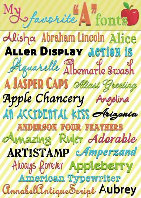 "For the love of fonts... My favorite ""A"" fonts with download links at inkhappi.com!"