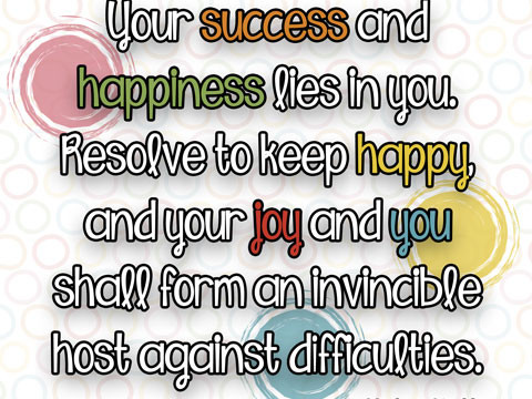 Helen Keller quote abput success and happiness. print at inkhappi.com