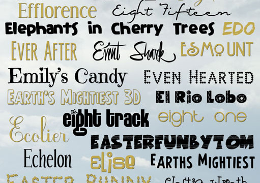 "More Free Fonts… My Favorite ""E"" Fonts!"