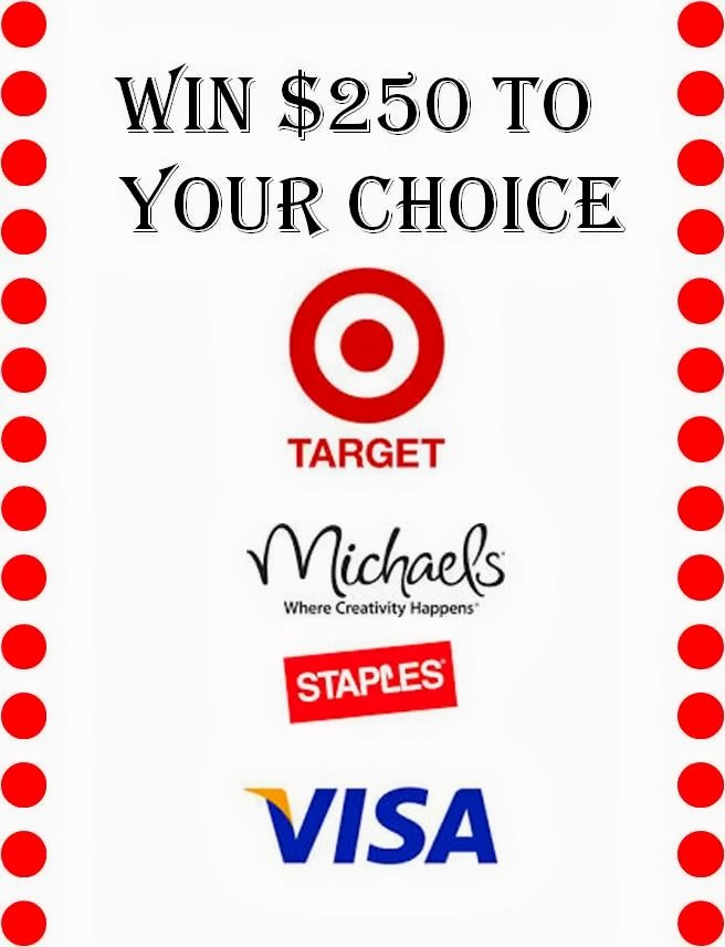 Giveaway from 8/26/13 to 9/1/13 to win a $250 gift card!