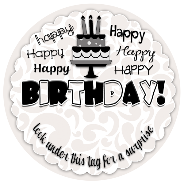 Happy Birthday Tag to go with a creative cash gift. FREE printable at inkhappi