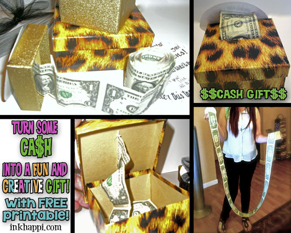 Yep.i like CASH!! Here is a fun and creative way to gift cash with a personal touch. Super easy idea with free printable at inkhappi.com