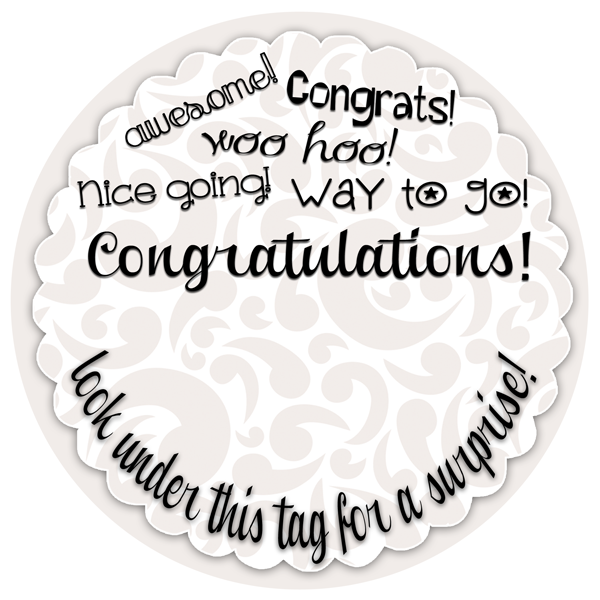 Congratulations gift tag to go with a creative cash gift. FREE printable at inkhappi