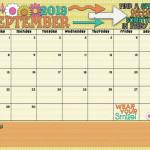 September 2013 Calendar is Here!