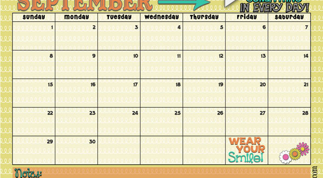 September 2013 Calendar is Here!