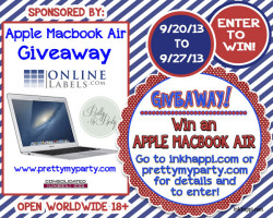 Giveaway to win a Macbook Air!