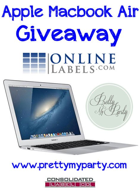 Yay! Its an awesome giveaway! Enter to win an Apple Macbook Air worth over $1000. You can't win if you don't enter! :P