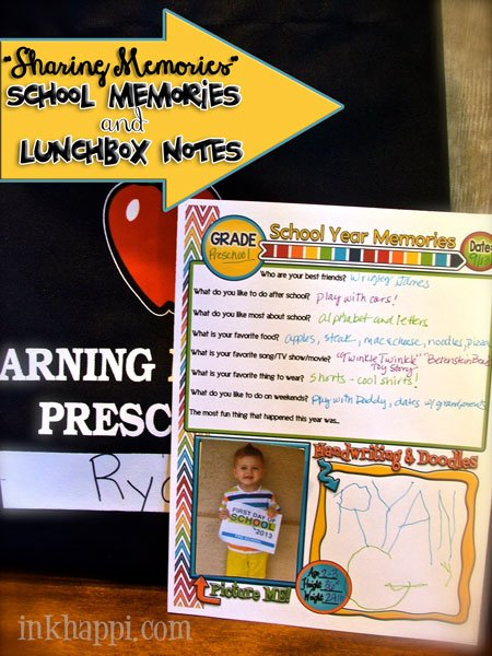 free versatile printable to preserve school year memories at inkhappi.com