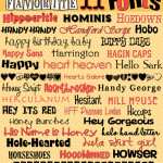 "Fonts! Sharing Favorite ""H"" Fonts!"