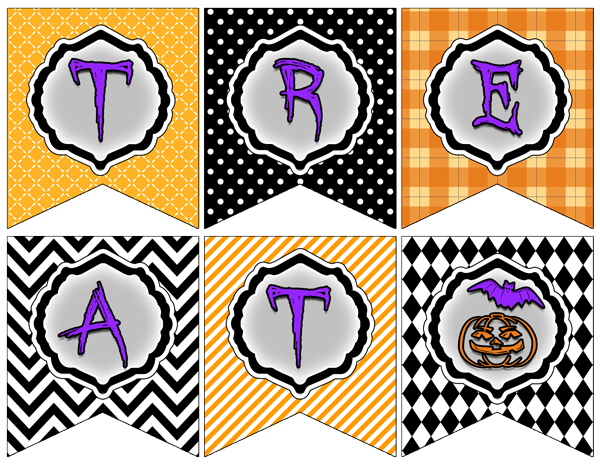 free halloween printable banners. Super cute and easy to put together!