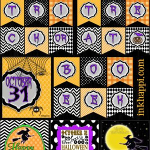Lots of awesome free HALLOWEEN banners and printables!