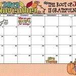 November 2013 Calendar… It's here!