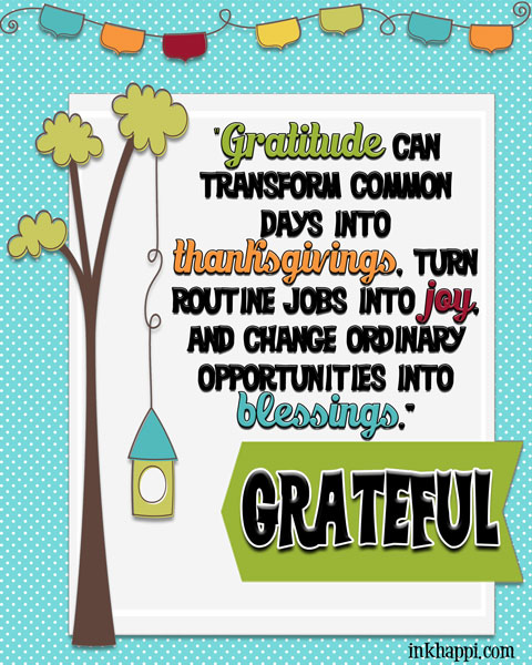 "Lots of GRATITUDE pints and quotes. A great reminder to ""Be Grateful"""