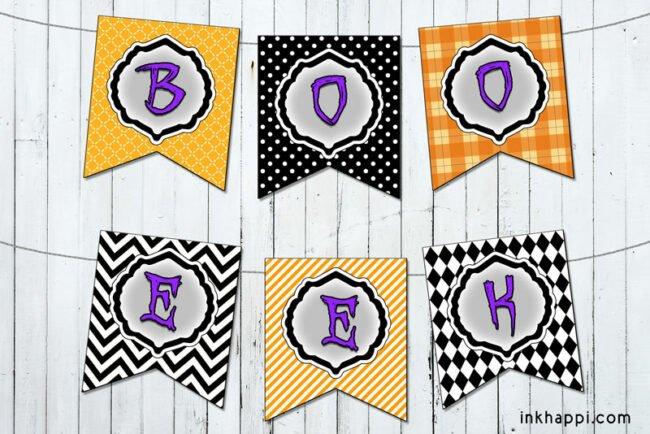 Halloween banners boo & eek! #halloween #banners #freeprintables