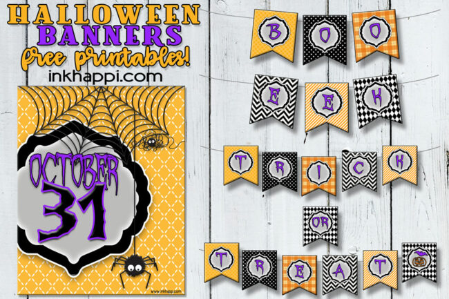 Free halloween printables! Use these banners in different ways to celebrate this spooky holiday! #halloween #banners #freeprintables