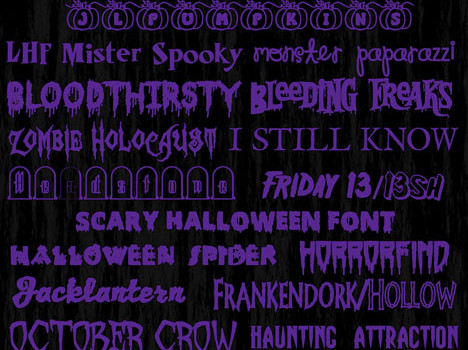 25 free spooky halloween fonts with download links. Enjoy! Mwahhaahahah #freefonts