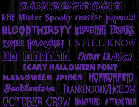 Halloween Fonts with download links