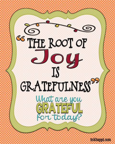 Take time for GRATITUDE! free print along with November 2013 calendar from inkhappi.com Enjoy!
