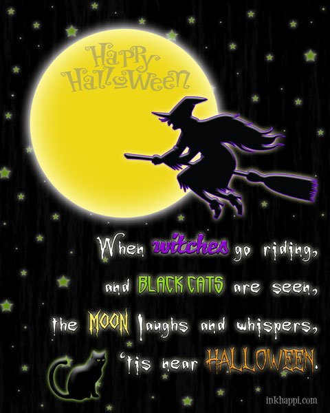 Halloween verse printable and 25 spooky halloween fonts to download at inkhappi.com #fonts #halloween