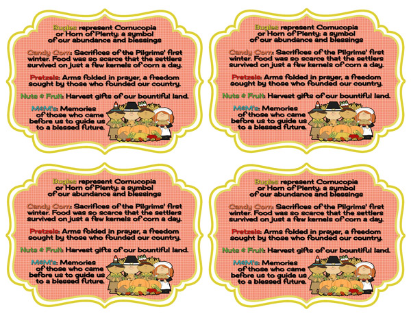 Thanksgiving Blessing Mix And Printables Inkhappi