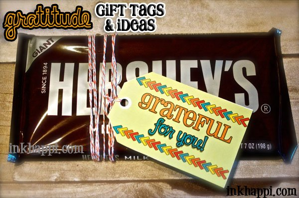 Show your gratitude with a gift! Free gratitude gift tags and ideas