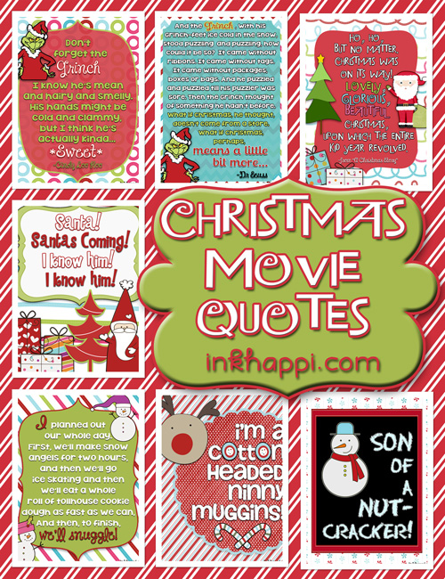 Christmas Movie Quotes! {free printables} - inkhappi