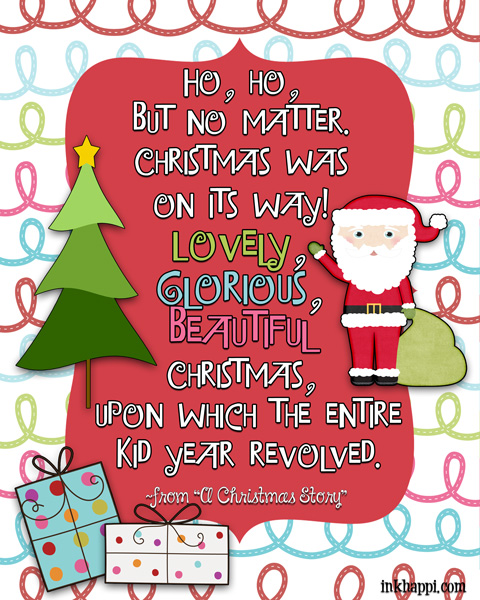 from a christmas story a classicchristmas movie quotes several free - Free Printables For Christmas