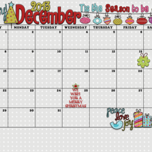 Yay! It's the December 2013 Calendar from inkhappi!