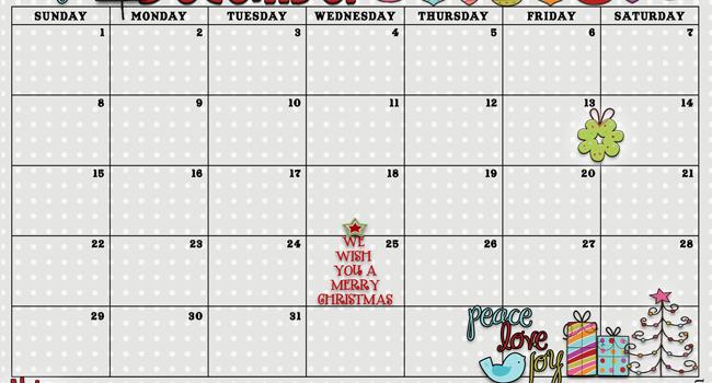 December 2013 Calendar is Here!
