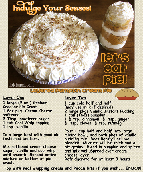 My absolute favorite pie! Get the recipe and printables from inkhappi.