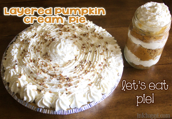 Get the senses going with this amazing Layered Pumpkin Cream Pie!