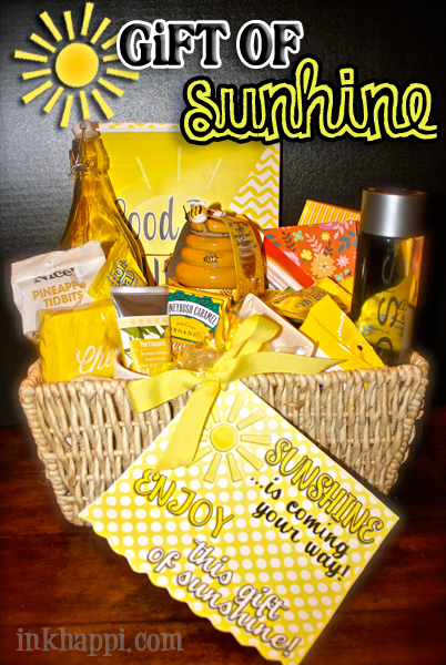 photo about Basket of Sunshine Printable titled Reward of Sunlight! All Elements Yellow Furthermore Free of charge Printables