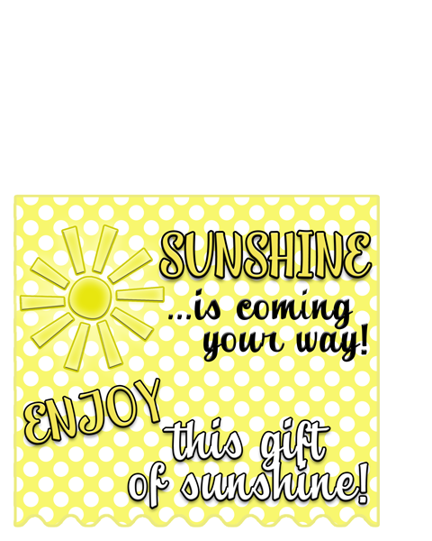 Give a gift of sunshine free gift tag, printables and ideas :)