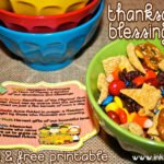 Thanksgiving Blessing Mix and Printables