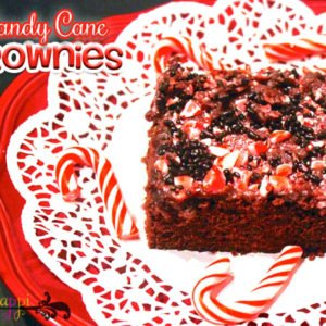 What to do with those excess candy canes?!! They go great with these extra chocolaty delightful brownies!