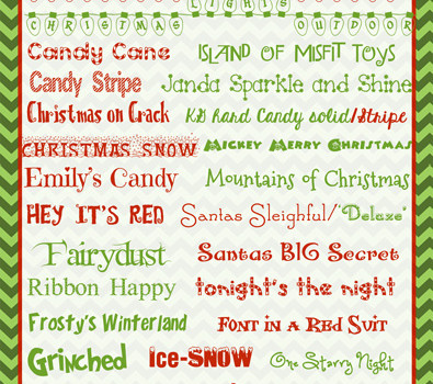 Christmas Fonts  …30 favorite free fonts to download!