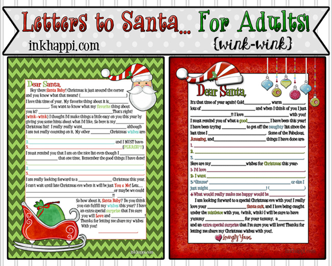 A Letter to Santa {mad lib style}… for Adults {wink-wink}