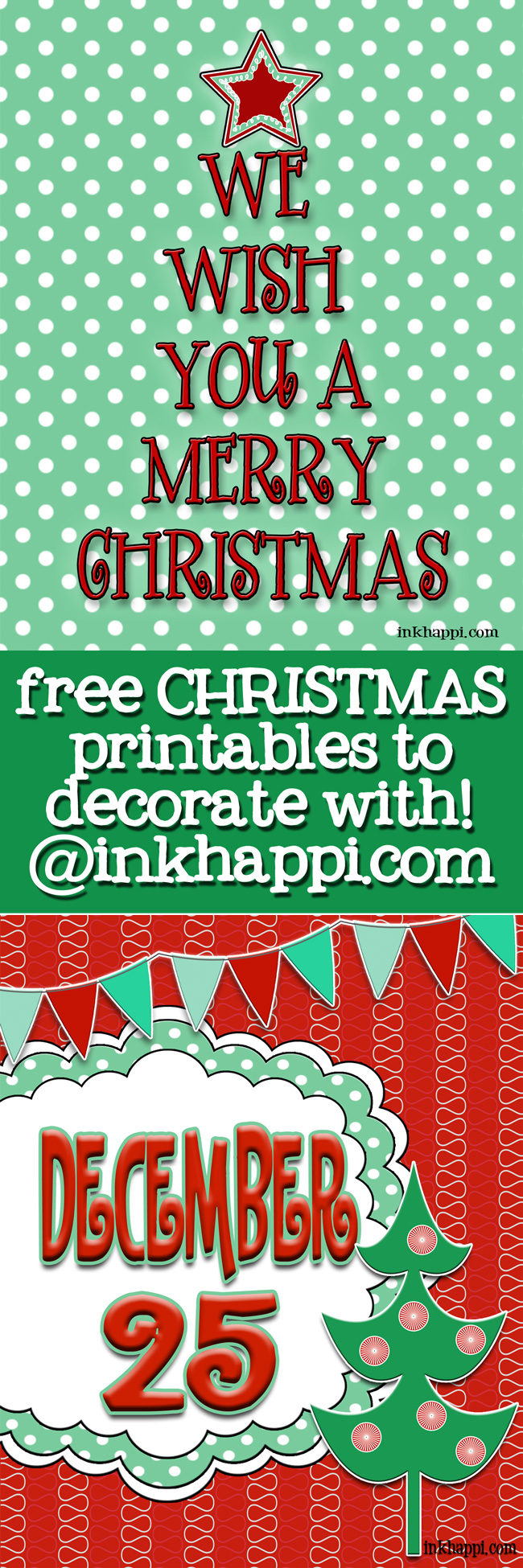Some cute free Christmas printables that are great for decorating with. Love these!