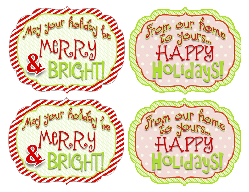 Free printables! holiday gift tags. DI… Add some glitter and make them stand out!! So simple yet add a special touch. You don't even need a pen.