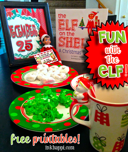 Introducing Elf on the Shelf to a new Christmas! Free printables that can be used for your Elf or other fun ways as they are customizable for your own purpose! ways