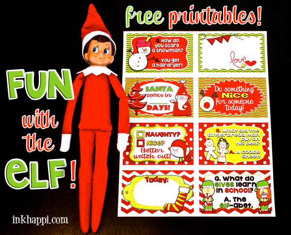 Introducing Elf on the Shelf to a new Christmas! Free printables that can be used for your Elf or other fun ways as they are customizable for your own purpose!