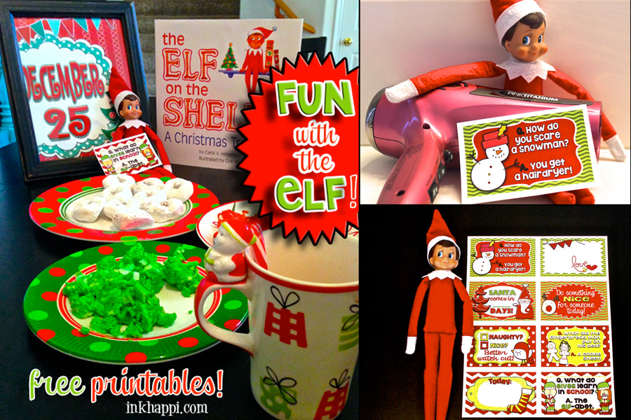Fun with the Elf... or not Elf.... Some great printable cards for the elf or to use as lunchbox notes, tags, whatever you want! Plus some fun ideas!