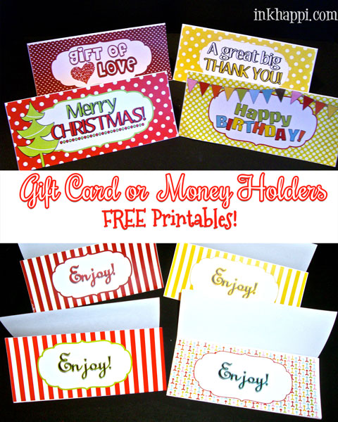 TONS of ideas to use with these free printables!! Great last minute gift ideas!