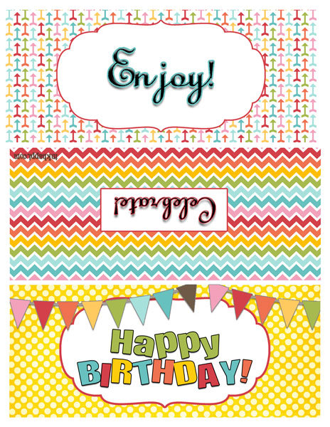 TONS of ideas to use with these free printables!! Great Birthday gift ideas!