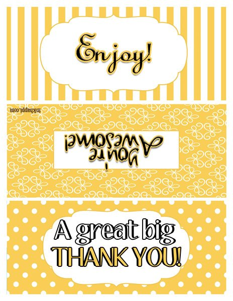 TONS of ideas to use with these free printables!! Great Thank you ideas!