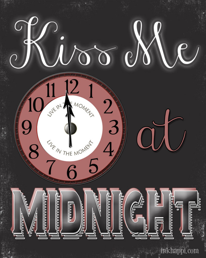 Who might you kiss at midnight? Free printable!