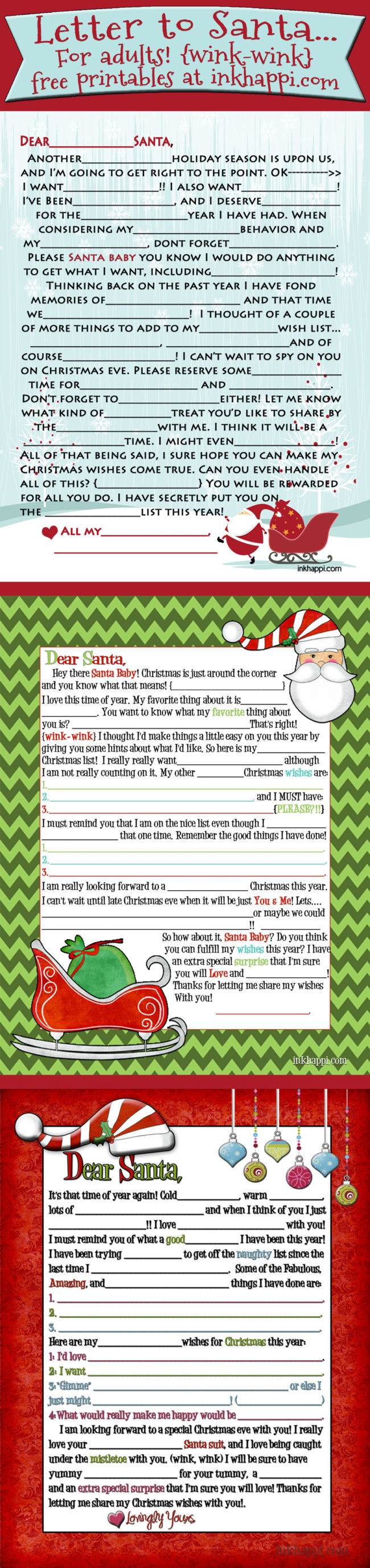 A Letter To Santa  For Adults Wink Wink  Inkhappi