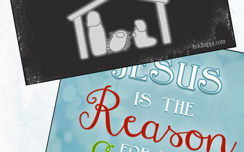 Jesus is the reason... free Christmas printables!