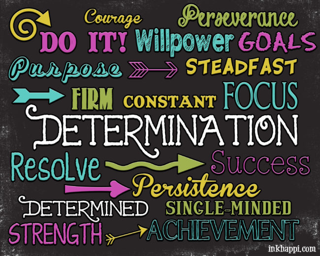 Determination is such a powerful word! Free printable!